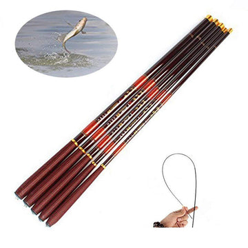 ZANLURE High Carbon Fiber Ultra Hard Telescopic Fishing Rod