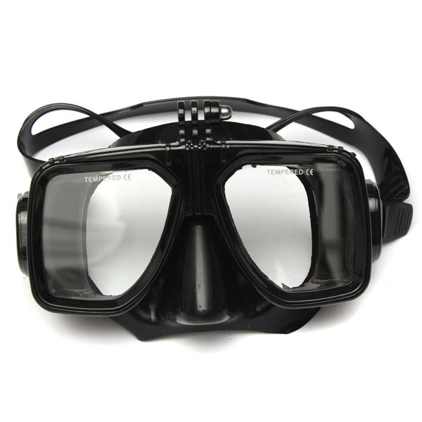 Diving Mask and Dry Snorkel Tube Combo For GoPro HD Hero 2 3 4 3 Plus