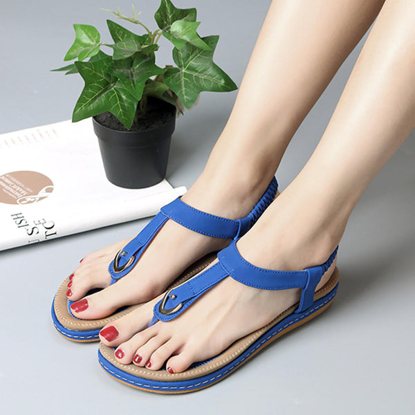 Clip Toe Flat Beach Sandals
