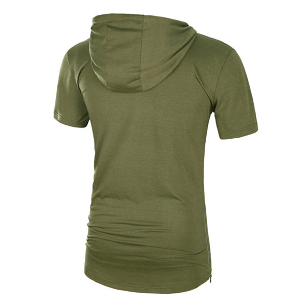 Long Hooded T-shirt