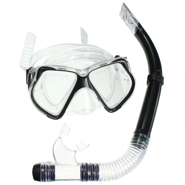 Dive Mask Dry Snorkel Set