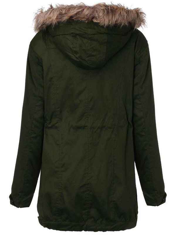 Coat Zip Hooded Parka Jacket