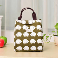Woman Hand-held Lunch Tote Bag