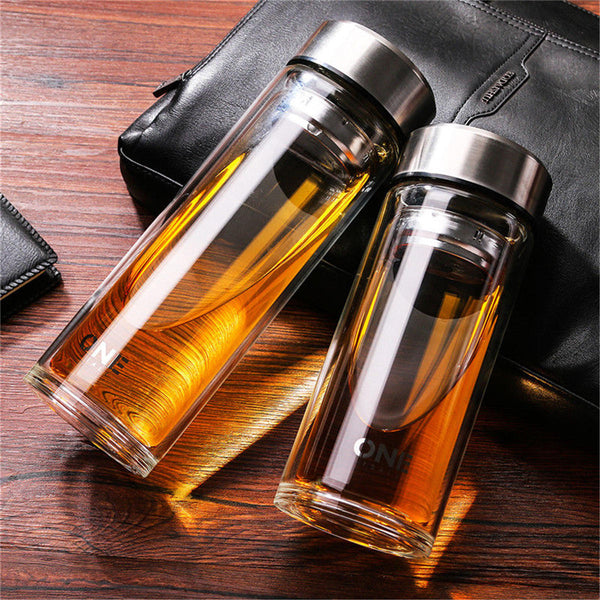 Large Glass Juice Water Bottle 1000ML