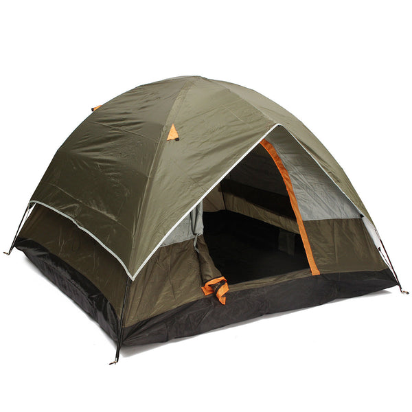 Outdoor 4 Persons Camping Tent Double Layer Waterproof