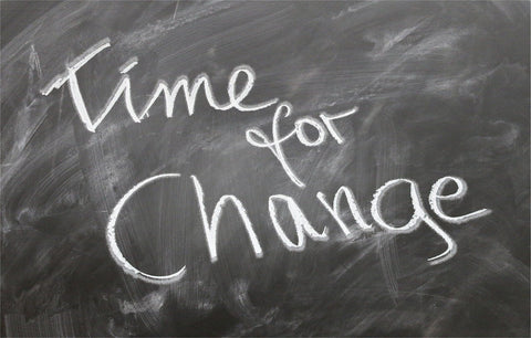 The words Time for Change written on a chalkboard