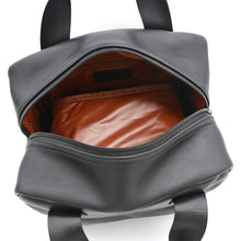 Load image into Gallery viewer, T|W Lunch Tote - Mero Black, Cognac Interior