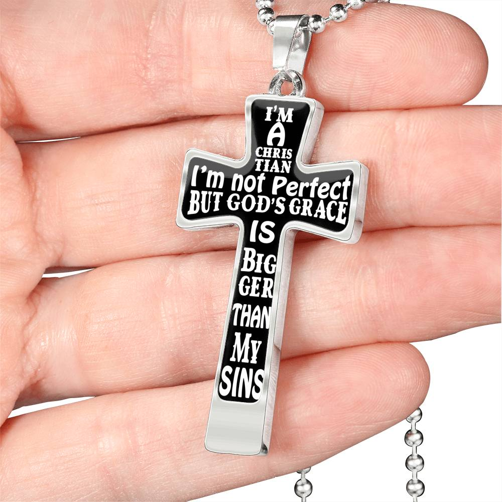 I'm A Christian Cross Necklace Ball Chain