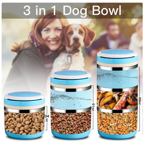 3-Tier Portable Pet Bowls