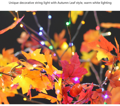 LED Fall Leaves String Lights