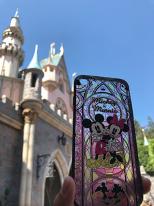 Mosaic Mickey & Minnie iPhone Case