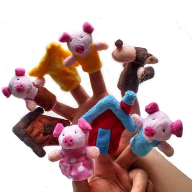 8-piece Finger Puppets - Three Little Pigs (Educational)