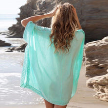 Swimsuit Cover-up (Aqua & White)