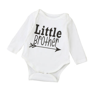 """Little Brother"" Long Sleeve Onesie"