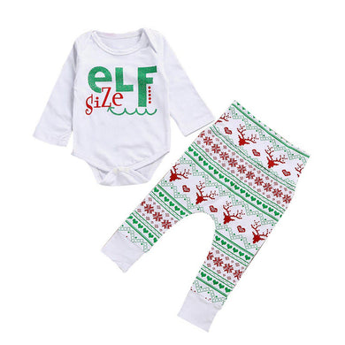 "Unisex ""Elf Size"" Christmas Outfit - Infant"