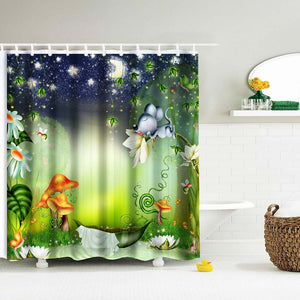 Nighttime Bath - Shower Curtain