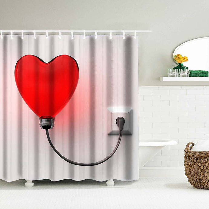 Red Heart/Valentine's Day - Shower Curtain