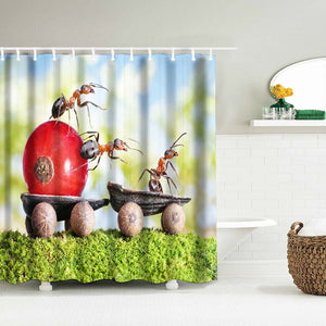 Spring Ants - Shower Curtain