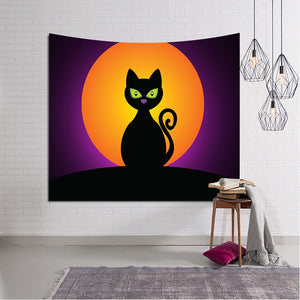 Halloween Black Cat Throw