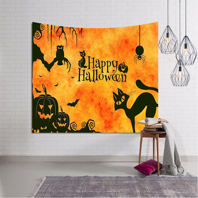 Halloween Orange Glow Throw