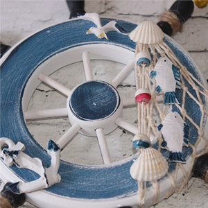 Wooden Ship Steering Wheel - Wall Decoration