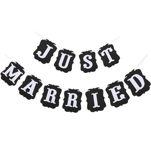 """Just Married"" Wedding Banner"