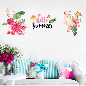 """Hello Summer"" Wall Sticker - Decal"