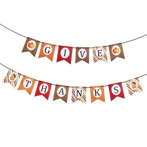 """Give Thanks"" Thanksgiving Day Banner"