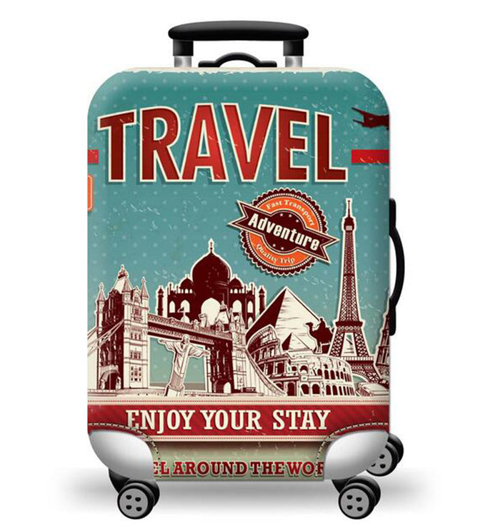 Travel Adventure Luggage Cover