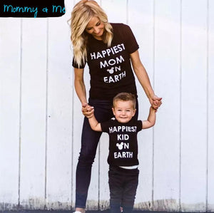 Matching Mommy & Me T-shirt - Happiest on Earth