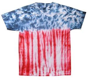 Red White & Blue Tie-Dye T-shirt