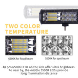 23inch LED Light Bar Work Driving Osram Combo beam Offroad 4WD 4x4 Truck 23inch 20inch
