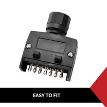 Load image into Gallery viewer, 7 PIN FLAT MALE PLUG TRAILER ADAPTOR CONNECTOR