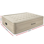 Bestway Inflatable Queen Air Bed Home Blow Up Mattress Built-in Pump