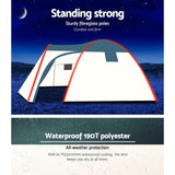 Bestway 8 Person Camping Dome Tent - Green & Cream White