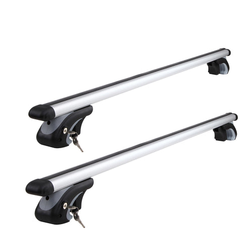 Giantz 1120mm Universal Aluminium Lockable Roof Rack - Silver
