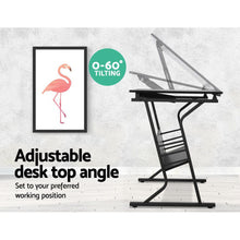 Load image into Gallery viewer, Artiss Drawing Desk Adjustable Drafting Table Tilt