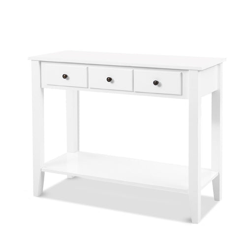Artiss Hallway Console Table Hall Side Entry 3 Drawers Display French White Desk