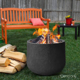 Grillz Outdoor Portable Lightweight Round Fire Pit