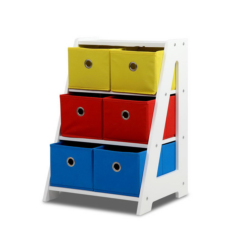 Removable Fabric Multi-bin Toy Box