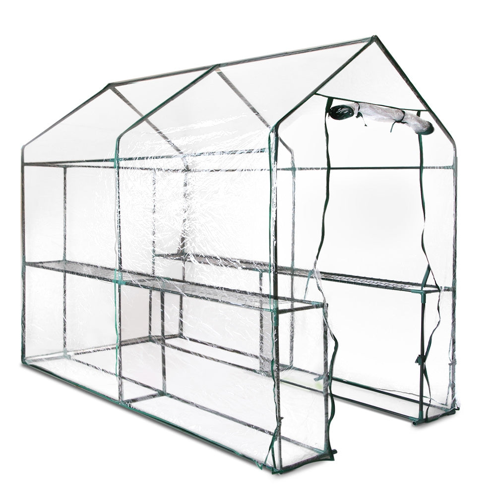 Green Fingers Walk In Transparent Green House 1.9 x 1.2m