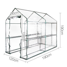 Load image into Gallery viewer, Green Fingers Walk In Transparent Green House 1.9 x 1.2m