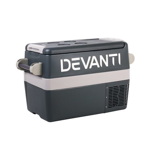 Devanti 45L Portable Fridge Freezer Cooler Caravan Camping