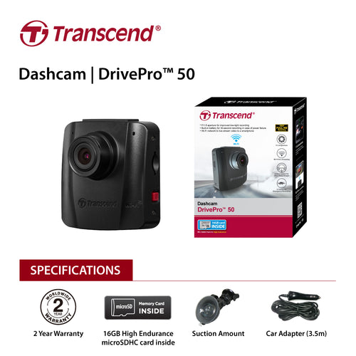 Transcend 16G DrivePro 50, Non-LCD, with Suction Mount