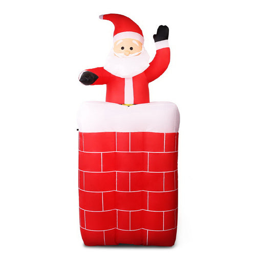Jingle Jollys Inflatable Pop-up Santa