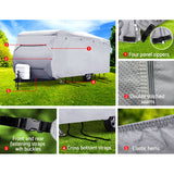Weisshorn 16-18ft Caravan Cover Campervan 4 Layer UV Waterproof
