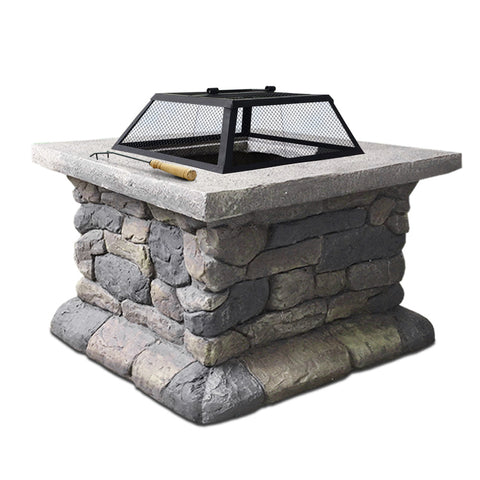 Grillz Outdoor Sone Fire Pit Table