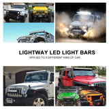 32inch Osram 5D Philips LED Light Bar Spot Flood Offroad Driving Lamp 4WD 4x4