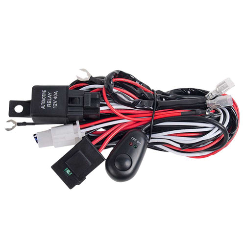 LED Wiring Loom Harness One-To-One Driving light bar 12V24V 40A Relay High Beam
