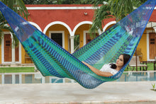 Load image into Gallery viewer, King Size Outdoor Cotton Hammock in Caribe